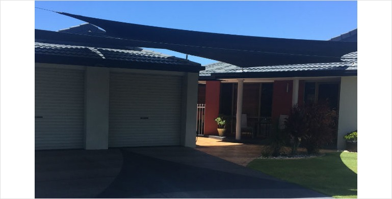 Shade Sails Carport Shades Sails | Gold Coast | Anthonys Shady Sails